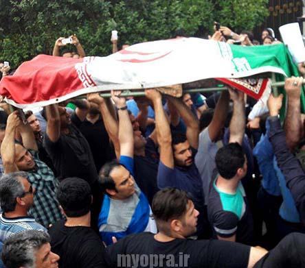تصاویر تشییع و خاکسپاری حبیب محبیان در رامسر