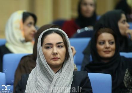 هانیه توسلی در مراسم افطاری حسن روحانی