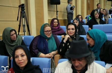 بهاره رهنما و الهام پاوه نژاد در مراسم افطاری حسن روحانی
