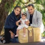 شبنم قلی خانی با همسر و دخترش بیوگرافی ۹۵