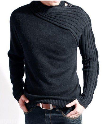 بافت مردانه یقه بافت سرژه مدل مردانه