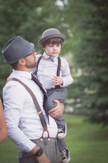 تصاویر ست لباس پسر و پدر موتوری