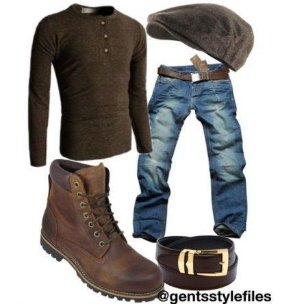 ست لباس مردانه با کت بافت و شلوارلی