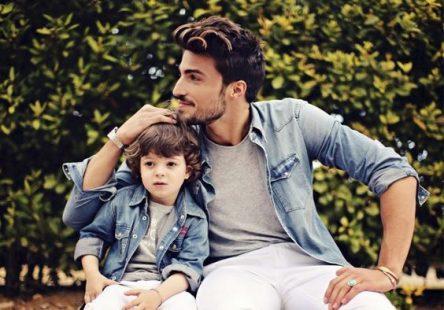 تصاویر ست لباس پسر و پدر با کت لی