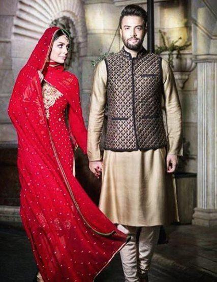 عکس بیامین بهادری و همسر دومش در سلام بمبئی