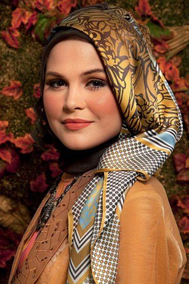 تصاویر آموزش بستن روسری 96