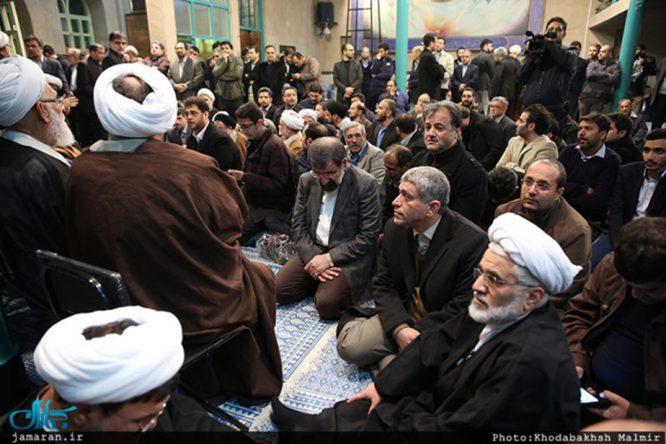 وداع خانواده هاشمی رفسنجانی در جماران