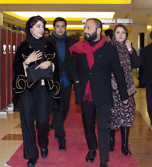 صابر ابر و مینا ساداتی فرش قرمز 35 جشنواره فیلم فجر 95