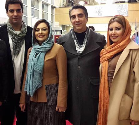 یکتا ناصر با همسر و خواهرش در افتتاحیه جشنواره 35 فیلم فجر