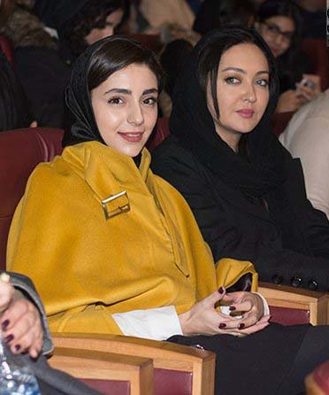 هستی مهدوی فر و نیکی کریمی در افتتاحیه جشنواره 35 فیلم فجر