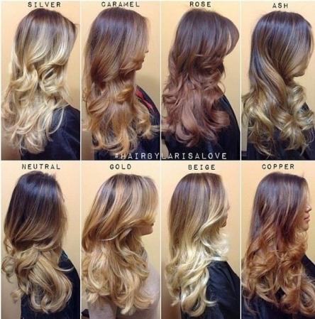 مدل رنگ موی آمبره رنگ های سال جدید