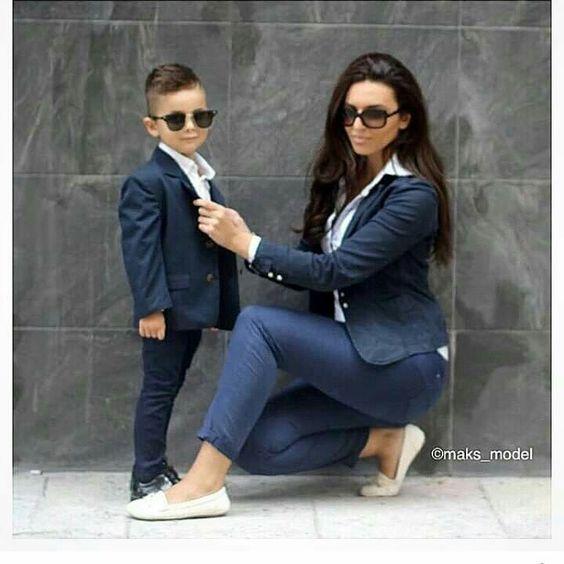 لباس پسرانه شیک ست با مادر مد 2017