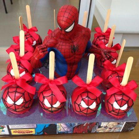 تصاویر تم تولد با کیک مرد عنکبوتی