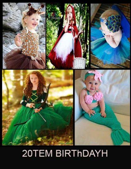 20 مدل تم لباس تولد برای دختر کوچولو ها