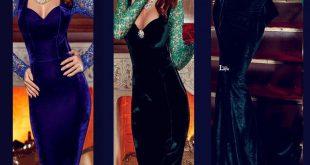 شیک ترنین و جدید ترین مدل های لباس مجلسی مخمل 2018