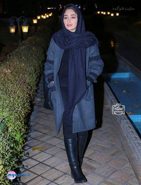 تیپ و مدل پالتو بازیگران زن ایرانی در زمستان 96