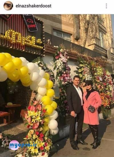 عکس های الناز شاکردوست در افتتاح رستوران برادرش در اندرزگو
