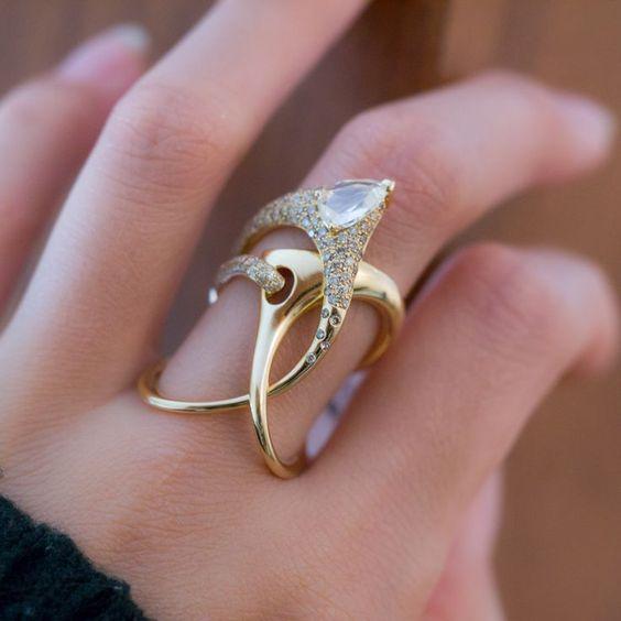 جدیدترین مدل انگشتر طلا زنانه و دخترانه 2018